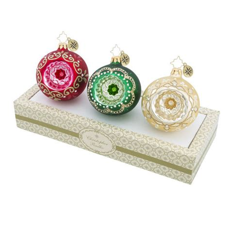 boxed ornaments sets boxed glass ornaments reflector mix set of 3 by