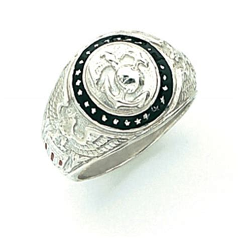 sterling silver u s marine corps insignia ring arm116ss