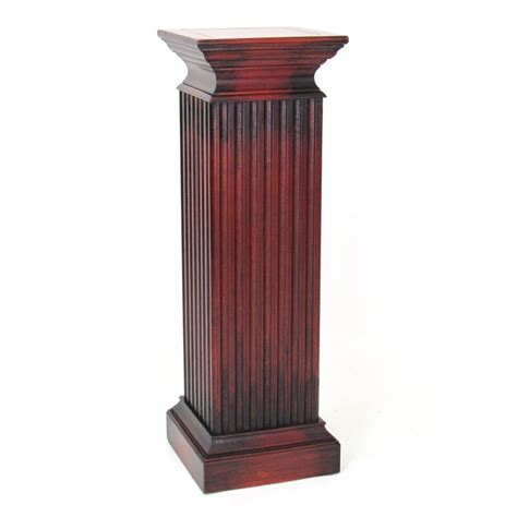 Pedestal Planters For Indoor by Shop Wayborn Furniture 42 In Cherry Indoor Square