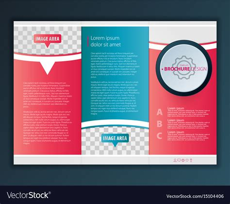 Modern Tri Fold Brochure Design Template Vector Image Modern Tri Fold Brochure Template