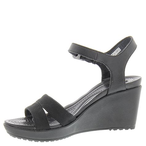 crocs leigh ii ankle wedge s sandal
