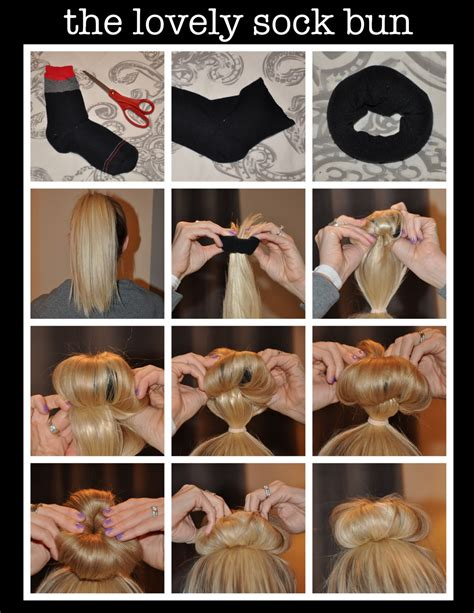 how to diy easy sock bun updo hairstyle with elastic web no heat hairstyles fresh faces and sensible shoes