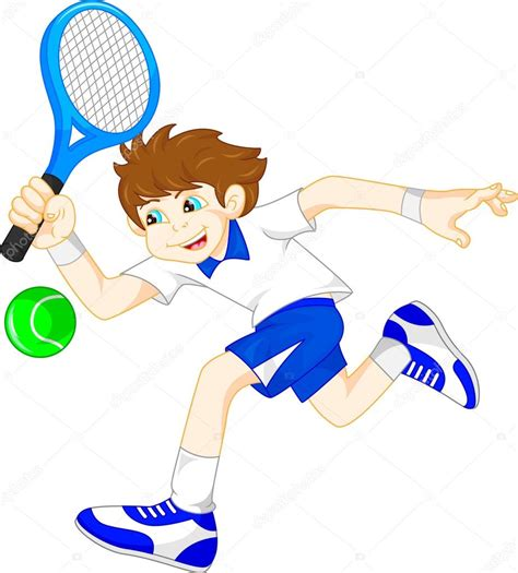 dibujos de niños jugando tenis ni 241 o de dibujos animados jugando tenis archivo im 225 genes