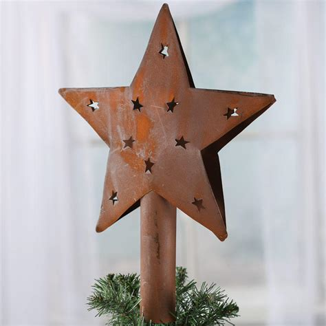 primitive rusty star tree topper christmas trees and