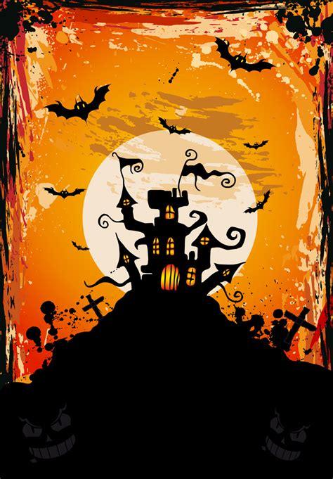 halloween meeting themes フリーイラスト素材 イラスト ハロウィン ハロウィーン 10月 行事 イベント 秋 蝙蝠