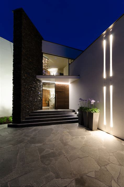 modern fusion of lighting design and architecture villa