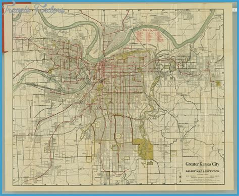 map missouri and kansas map of kansas city missouri travelsfinders