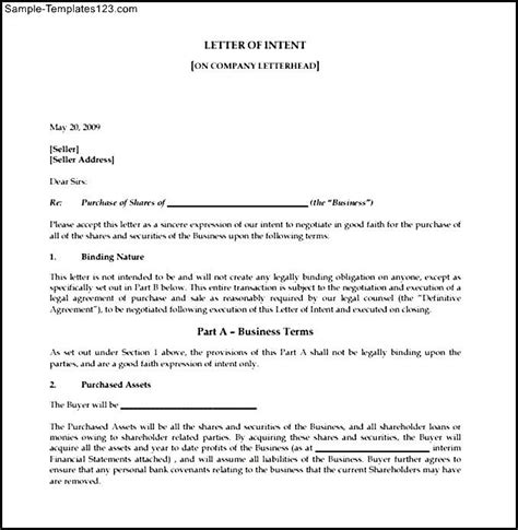 Sle Letter Of Intent For Employment Renewal Sle Letter Of Intent To 28 Images How To Write A