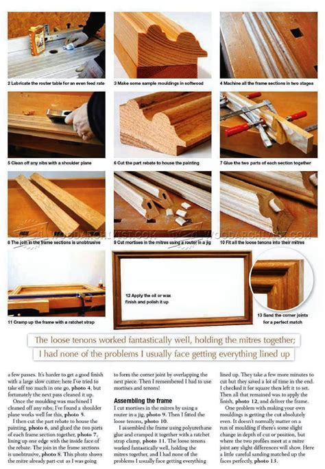 picture frame woodworking plans picture frame woodarchivist