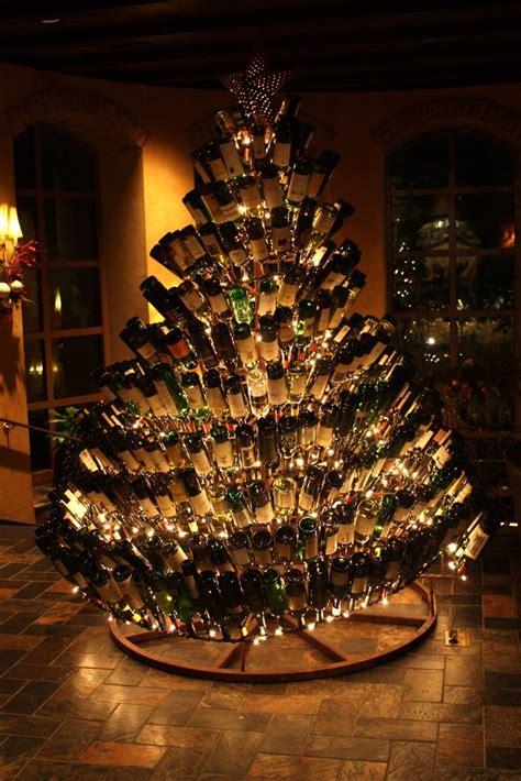 wine bottle christmas tree christmas pinterest