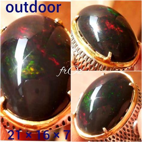 Batu Akik Cincin Black Opal Jumbo jual kalimaya black opal hq jumbo banten ring perak mewah