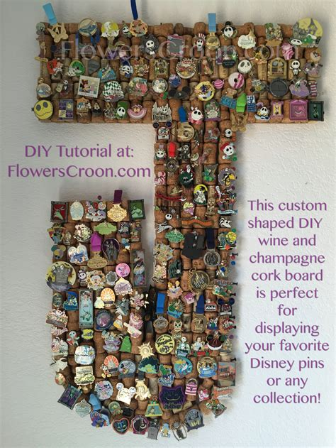 Unique Cutting Boards by Diy Wine Amp Champagne Cork Disney Pin Board Flowers Croon