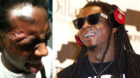 lil wayne face tattoos lil wayne gets skateboarding brands tattooed on his