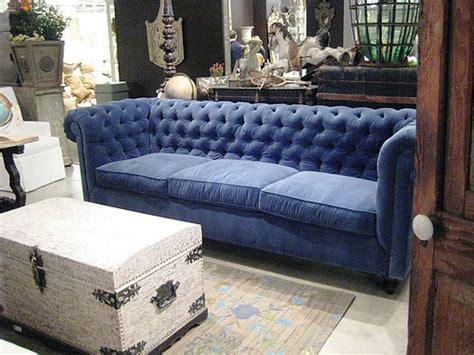 deep blue velvet sofa deep blue velvet tufted sofa design folly flickr