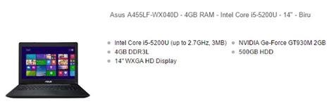 Laptop Asus Intel I5 5 Jutaan harga laptop asus i5 murah 6 jutaan 2017