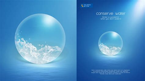 design poster save water photoshop tutorial poster conserve water youtube