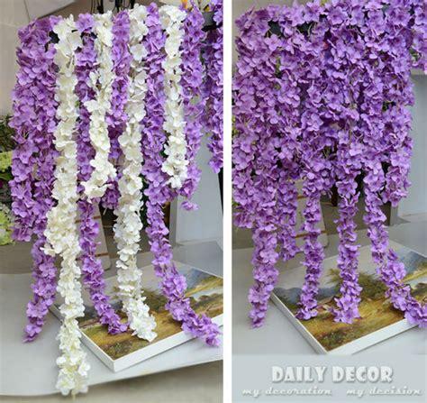 wedding arch vines 220cm artificial hydrangea wisteria flower vines