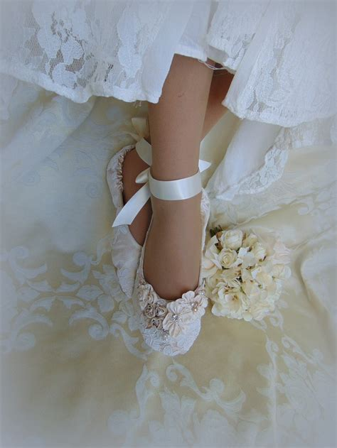 bridal ballet slippers princess ballet slippers lace bridal flat shoelace