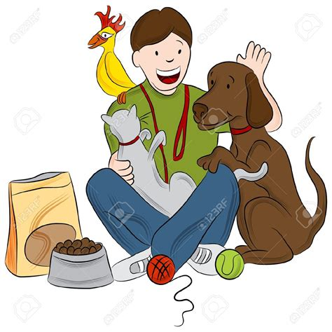 house dog sitter house and pet sitting clipart