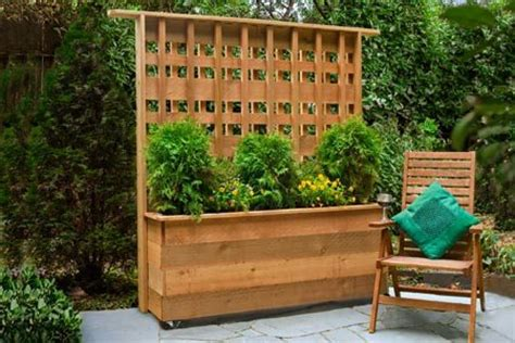 Deck Planters For Privacy by Diy Privacy Planter All