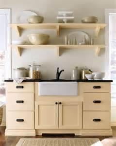 open shelving martha stewart living maidstone kitchen in