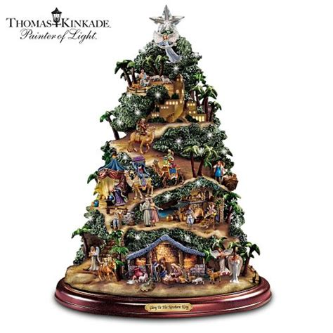 thomas kinkade illuminated tree skirt decorseasonal shop for seasonal decor