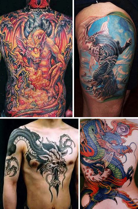 fantasy tattoos 34 tattoos of the terrifying and fantastic
