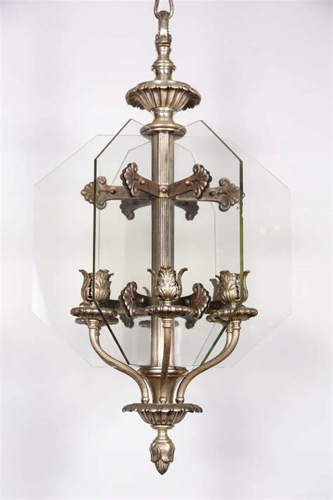 1920s Silver Plated Six Arm Bronze Bank Chandelier From Chandeliers Chicago
