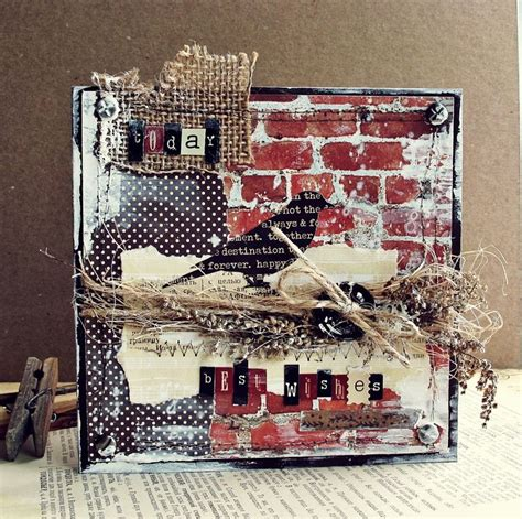 Handmade Collage Ideas - 43 best cards brick wall images on