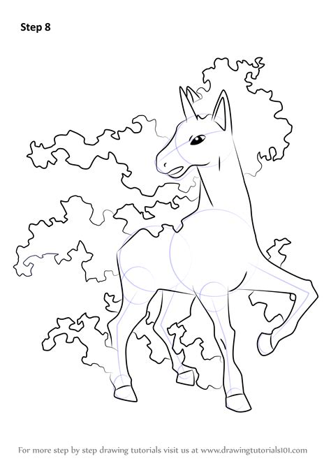 pokemon coloring pages rapidash learn how to draw rapidash from pokemon pokemon step by