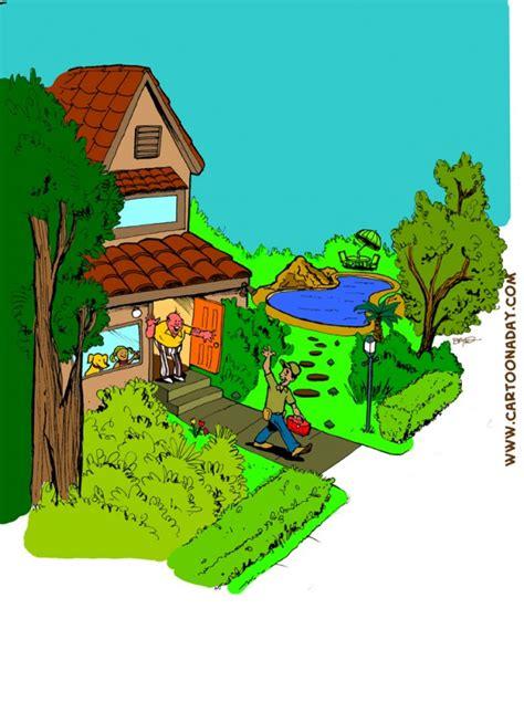 happy home illustrations cartoon