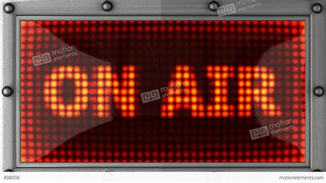 flashing lights for signs blinking lights on air stock animation 498006