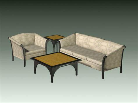 free 3d living room sets 4 piece living room set 3d model files free download