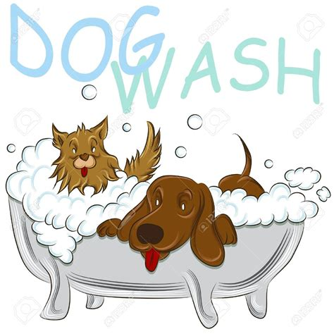 two dogs in a bathtub dog in bath clipart clipartsgram com