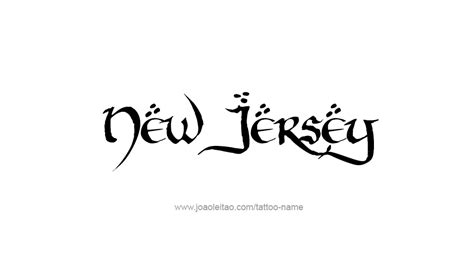 new jersey tattoos designs new jersey usa state name designs page 4 of 5