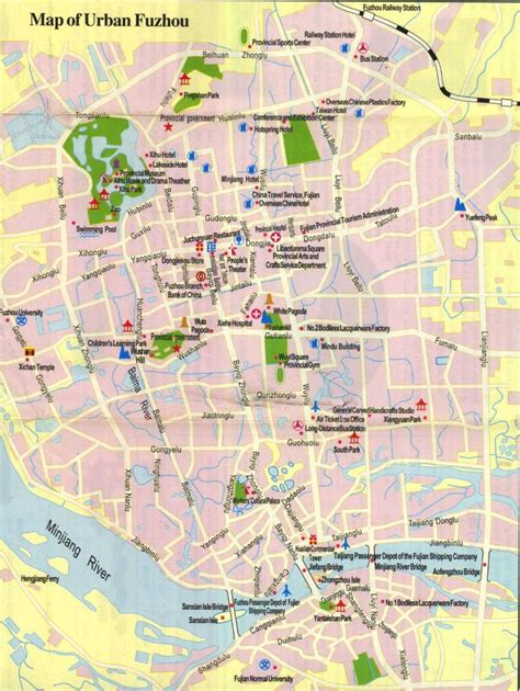 fuzhou city map fuzhou maps china  advisors
