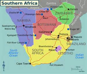 southern africa map map of southern africa printable