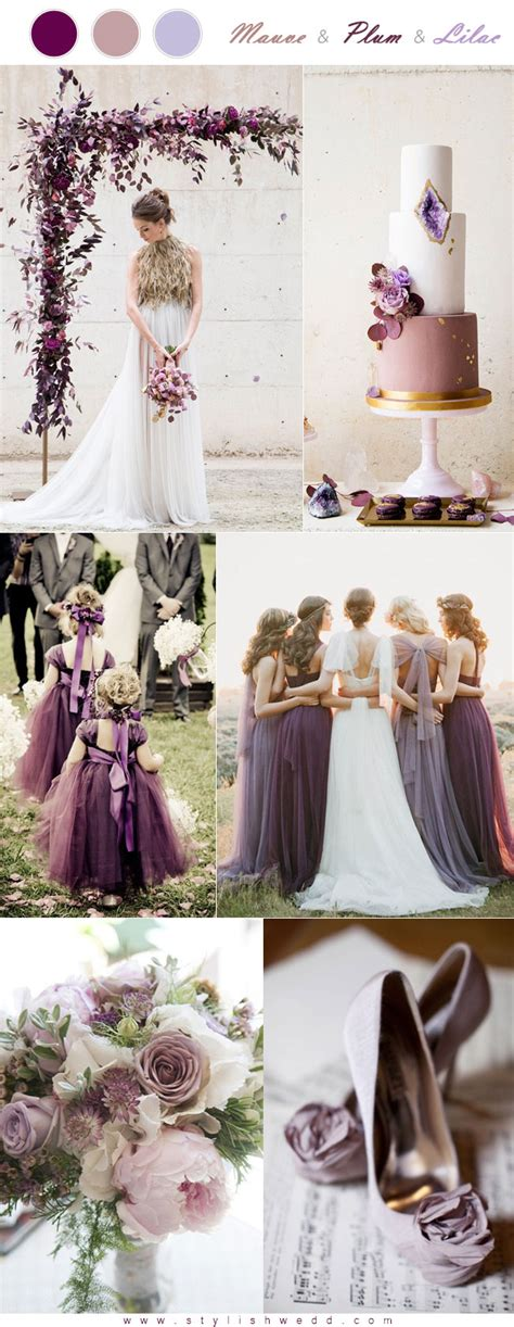 hottest  mauve wedding color palettes  die