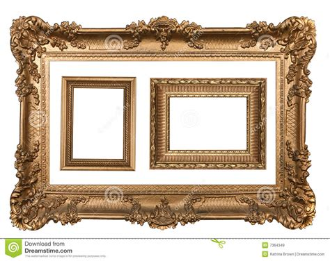 decorative wall picture frames 3 decorative gold empty wall picture frames royalty free