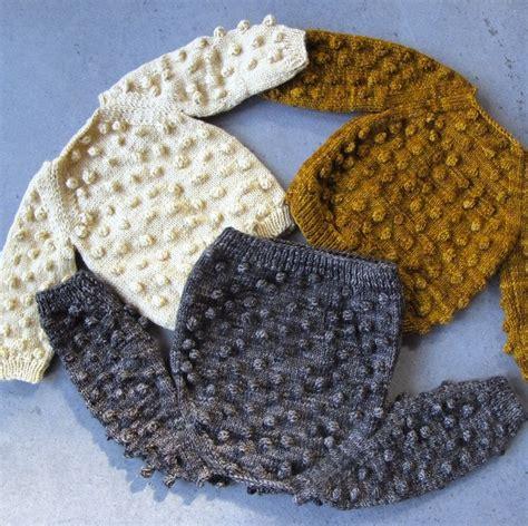 Kalina Puff misha and puff popcorn sweater beautiful knits