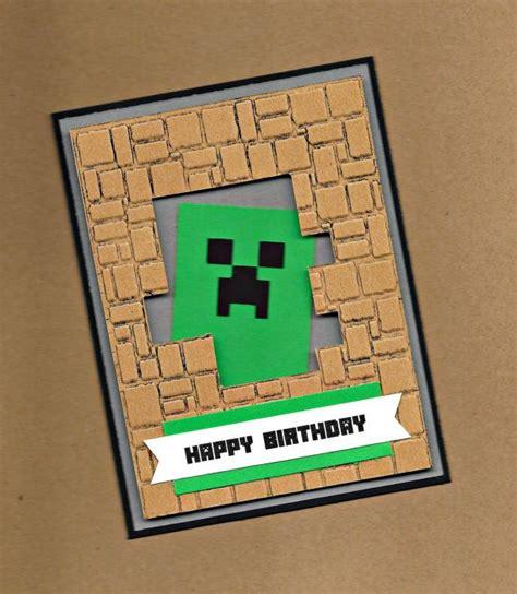 minecraft happy birthday card template best 25 minecraft birthday card ideas on