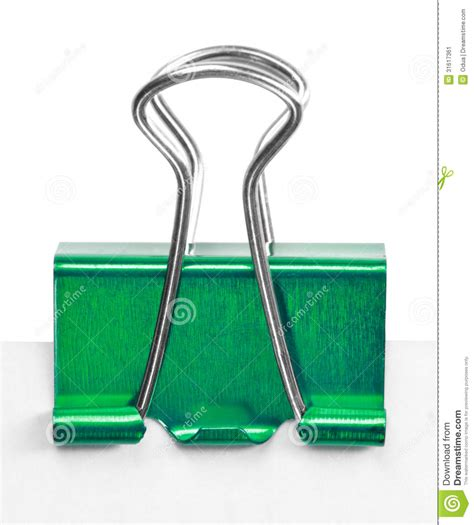 Wedding Decor Chicago Close Up Of A Green Binder Clip Stock Image Image 31617361