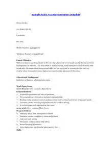 Sle Resume For A Sales Associate by Sales Associate Resume Sle Skills Vosvetenet Retail