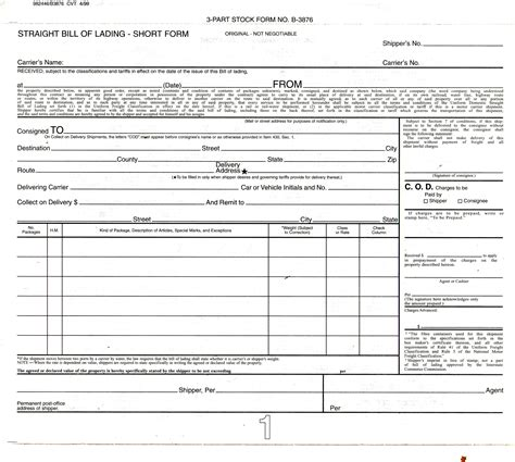 download free bill of lading form auto transport download