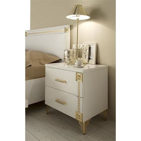 White And Gold Nightstand Gold And White Nightstand
