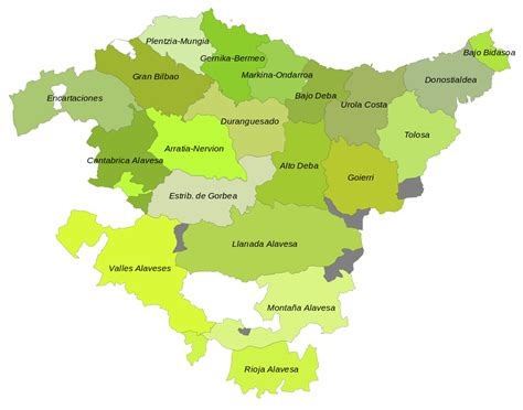 capital pais vasco file mapa comarcal pa 237 s basc svg wikimedia commons