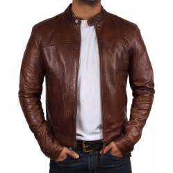 Leather Jacket Mens S Brown Leather Jacket Asasin