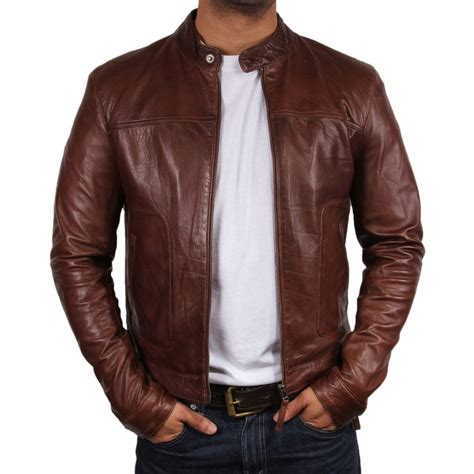 Leather jackets for men's online shopping