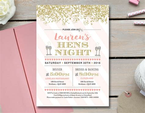 hens night invitation hens party invitation printable