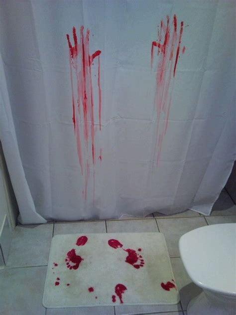 shower rug turns when creepy shower curtain bath mat that turns where you step eeeek creative costumes